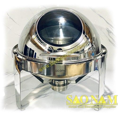 Nồi Hâm Cháo - Soup Tròn Nắp Kiếng SN#520055
