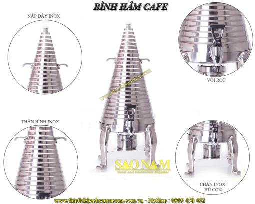 Bình Hâm Trà Café Sacona