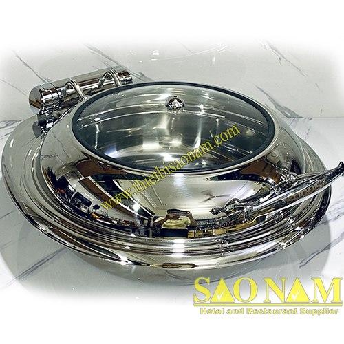 nồi hâm buffet tron nắp kính SN#520012 1
