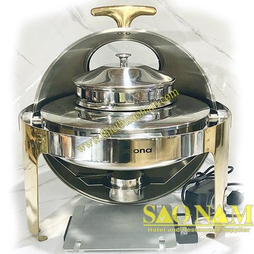 Nồi Hâm Cháo - Soup Tròn Nắp Kiếng SN#520905