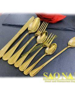 Bộ Dao Muỗng Nĩa Italy Vàng SN#527975