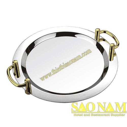 Khay Để Trái Cây Tròn ( Tay Cầm Vàng ) SN#520400