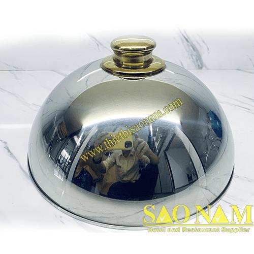Nắp Chụp Inox ( Tay Cầm Vàng ) SN#520482