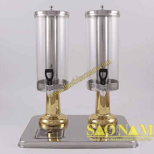Bình Đựng Nước Trái Cây 2 Ngăn ( Chân Inox Vàng ) SN#520708