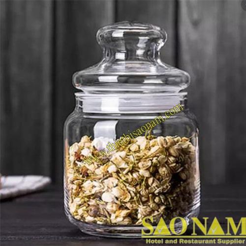 Pop Jar With Glass Lid B02511TT