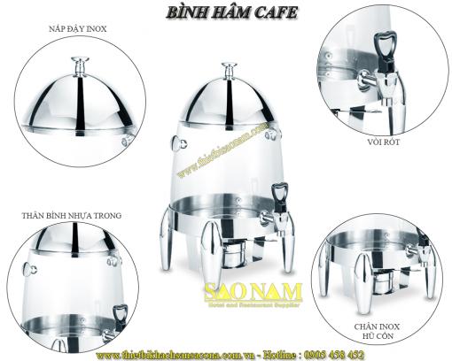 Bình Hâm Trà Cafe Thân Nhựa Trong