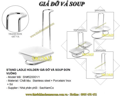 Giá Đỡ Vá Soup Đôi Tròn