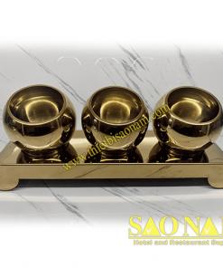Giá Để Thức Ăn Buffet Inox Đồng 3 Tô SN#520347/2