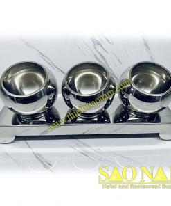 Giá Để Thức Ăn Buffet 3 Tô Inox SN#520347