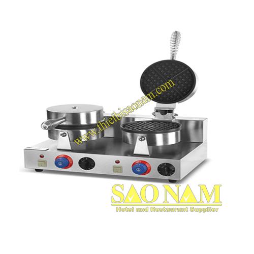 Máy Làm Bánh Waffle Đôi Dùng Điện SN#525625