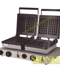 Máy Làm Bánh Waffle Vuông 2 Ngăn Dùng Điện SN#525636