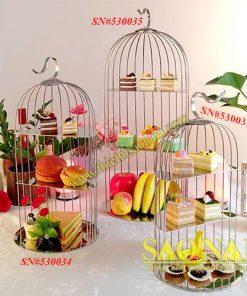 Giá Buffet Hình Lồng Chim SN#530033-035