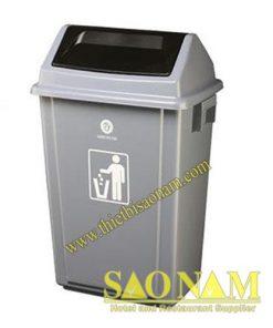Thùng Rác Nhựa Nắp Đẩy SN#522842