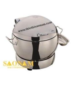Nồi Hâm Cháo - Soup Sacona Tròn Dùng Điện Nắp Inox SN#520058/1