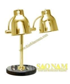 Đèn Hâm Nóng Thức Ăn Inox Vàng Đế Đá 2 Bóng SN#530103