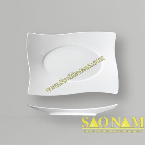 Dĩa Chữ Nhật Cong Vành SQS18300-SQS8300